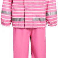 Nordbjørn Koster Regnsett, Aurora Pink Stripe, 110-116