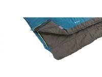 Outwell Celebration Lux Double, Sleeping Bag, 225 x 140 cm, 2 way open - auto lock, L-shape, Blue