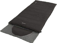 Outwell Contour Midnight Black L, Sleeping Bag - Left Zipper, 220 x 85 cm, YKK 2-way L-shape open-end with auto lock, Black