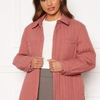 Pieces Gretzel Quilted Overshirt Canyon Rose S