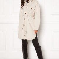 Pieces Riema Overshirt Jacket Whitecap Gray M