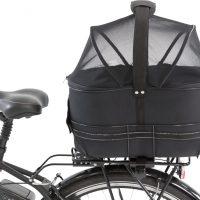 Sort sykkelbag for hund - Bagasjebrett
