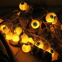 Specter Skeleton Ghost Eyes Pattern Halloween LED String Light Holiday Funny Party Decoration