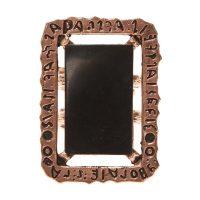 Svart Mirror Messing Ring