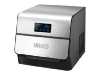 UNOLD 48955 - Isterningsmaskin - frittstående - bredde: 35 cm - dybde: 29.5 cm - høyde: 29 cm - rustfritt stål / svart