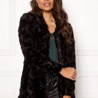 VERO MODA Curl High Neck Faux Fur Black XL
