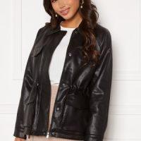 VERO MODA Jill Coated Jacket Black L