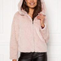 VERO MODA Thea Hoody Short Faux Fur Sepia Rose XL