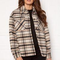 VILA Rubi Check Shirt Jacket Birch Checks 38