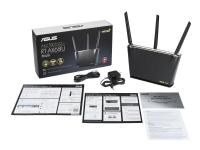 ASUS RT-AX68U - Trådløs ruter - 4-portssvitsj - GigE - 802.11a/b/g/n/ac/ax - Dobbeltbånd