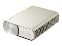 ASUS ZenBeam GO E1Z - DLP-projektor - LED - 150 ANSI-lumen - WVGA (854 x 480) - 16:9 - sølv