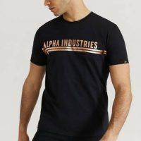 Alpha Industries T-shirt Alpha Industries T Foil Print Svart