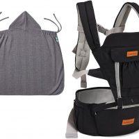 Beemoo Carry Comfort Adjust Bæresele inkl Trekk, Black
