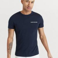 Calvin Klein Jeans T-shirt Chest Institutional Slim SS Tee Blå