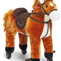 Cloudberry Castle Ride-On Hest Med Hjul, Brun