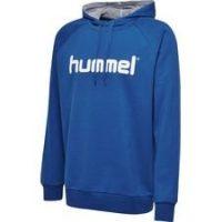 Hummel Go Cotton Logo Hettegenser - Blå