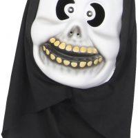Kostyme Maske Med Hette Skjelett Barn, Hvit