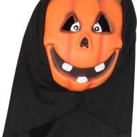 Kostyme Maske med Hette Gresskar Barn, Oransje
