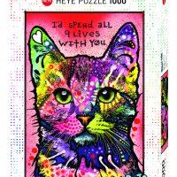 Puslespill 1000 9 Lives Heye