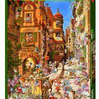 Puslespill 1000 Ryba Romantic Town Heye