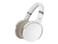 Sennheiser HD 450BT - Hodetelefoner med mikrofon - full størrelse - Bluetooth - trådløs - aktiv støydemping - hvit