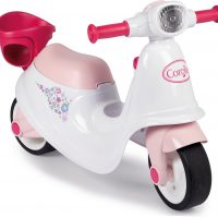 Smoby Corolle Ride-On Scooter, Rosa/Hvit