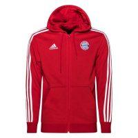 adidas Bayern München Hettegenser 3-Stripes FZ - Rød