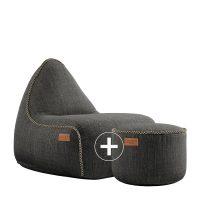 Cobana Lounge Chair & Pouf