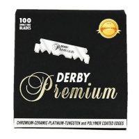 Derby Premium barberblader til shavette - 100-pakning