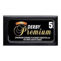 Derby Premium tradisjonelle barberblader - 5-pakning
