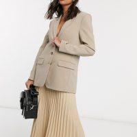 & Other Stories oversized blazer in beige-Neutral