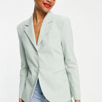& Other Stories tailored blazer in pistachio-Green