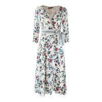 3/4 Sleeve Floral Oriental Dress