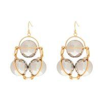 Earrings with geometric pendants