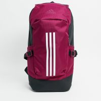 adidas backpack in burgundy-Red