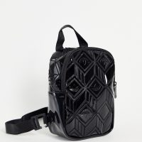 adidas originals 3D PU mini backpack in black